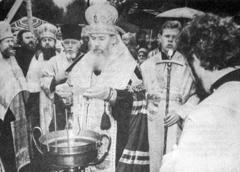 13 сентября Святейший Патриарх Алексий освятил часовню св. благ. в. кн. Александра Невского в Коломягах